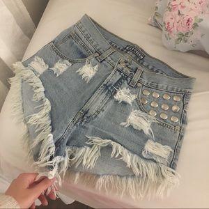 90's old school denim shorts missdenim